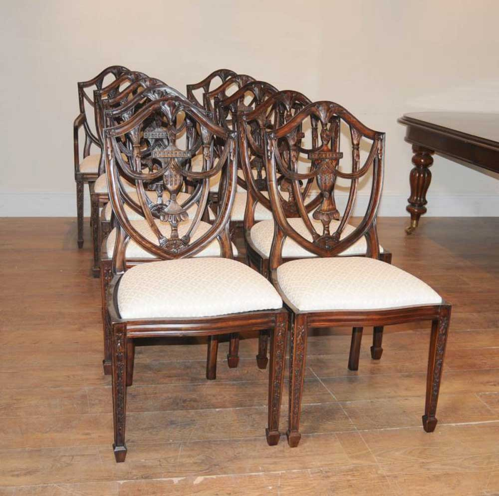 Dining Table Set For 10: Victorian Dining Table Set 10 Federal Chairs Suite