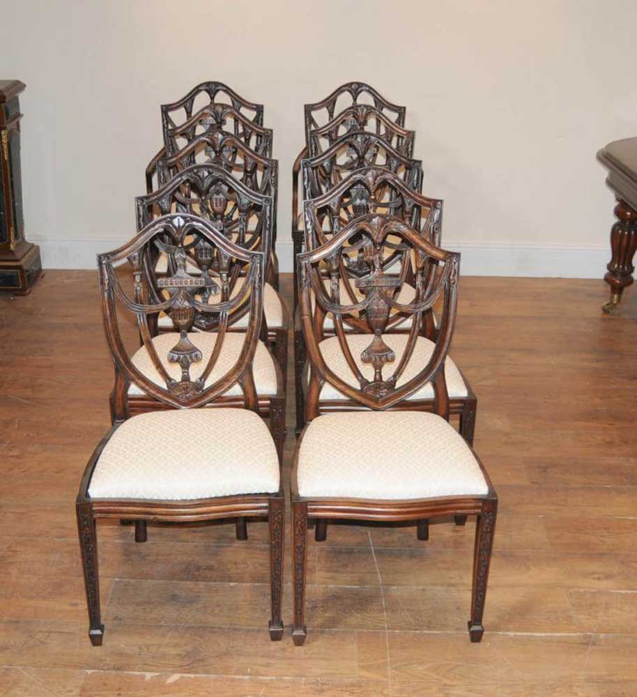 Victorian Dining Table: Victorian Dining Table Set 10 Federal Chairs Suite