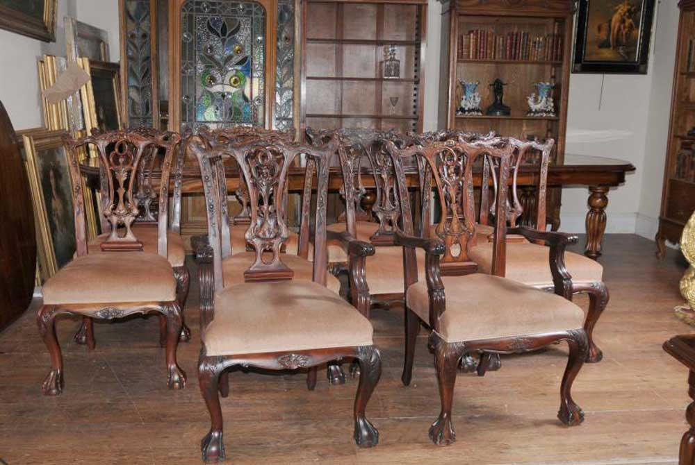 victorian dining table set chippendale chairs set suite furniture antique dining room furniture antique