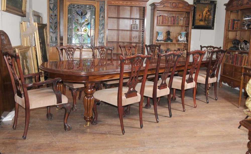 Victorian Dining Table Set Chippendale Chairs Set Suite Mahogany | eBay - Victorian Dining Table Set Chippendale Chairs Set Suite Mahogany