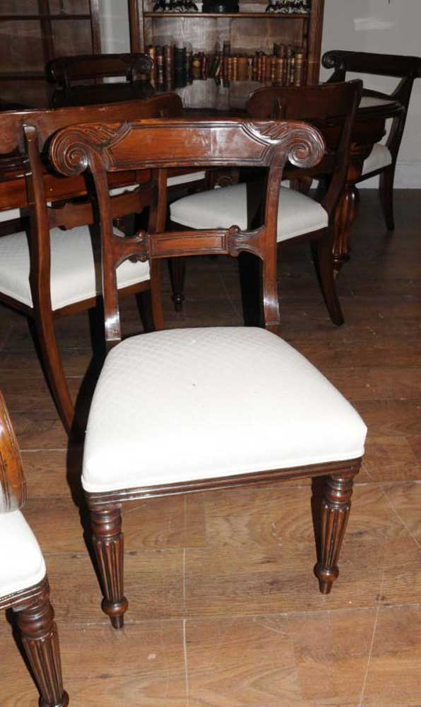 Victorian Dining Table Set Prince Wales Chairs Mahogany