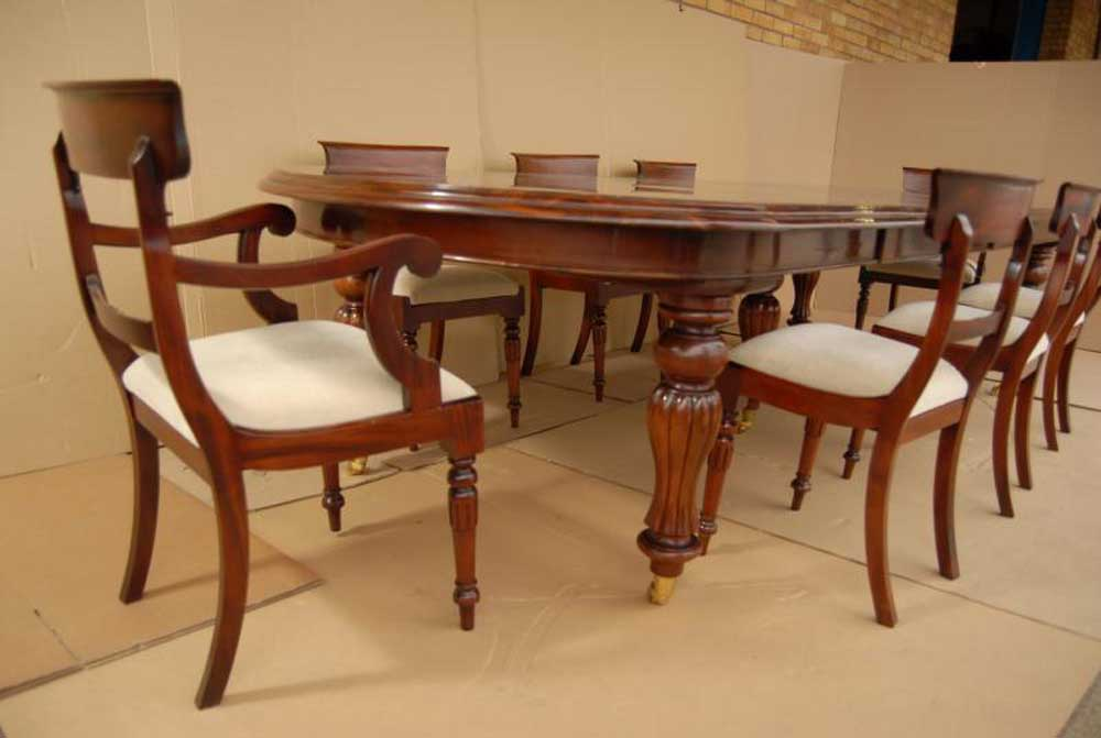 Victorian Dining Table Set William IV Chairs Suite | eBay