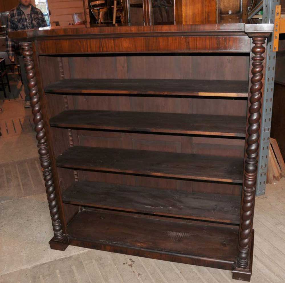 Victorian Mahogany Bookcase Barley Twist Rustic Furniture Ebay