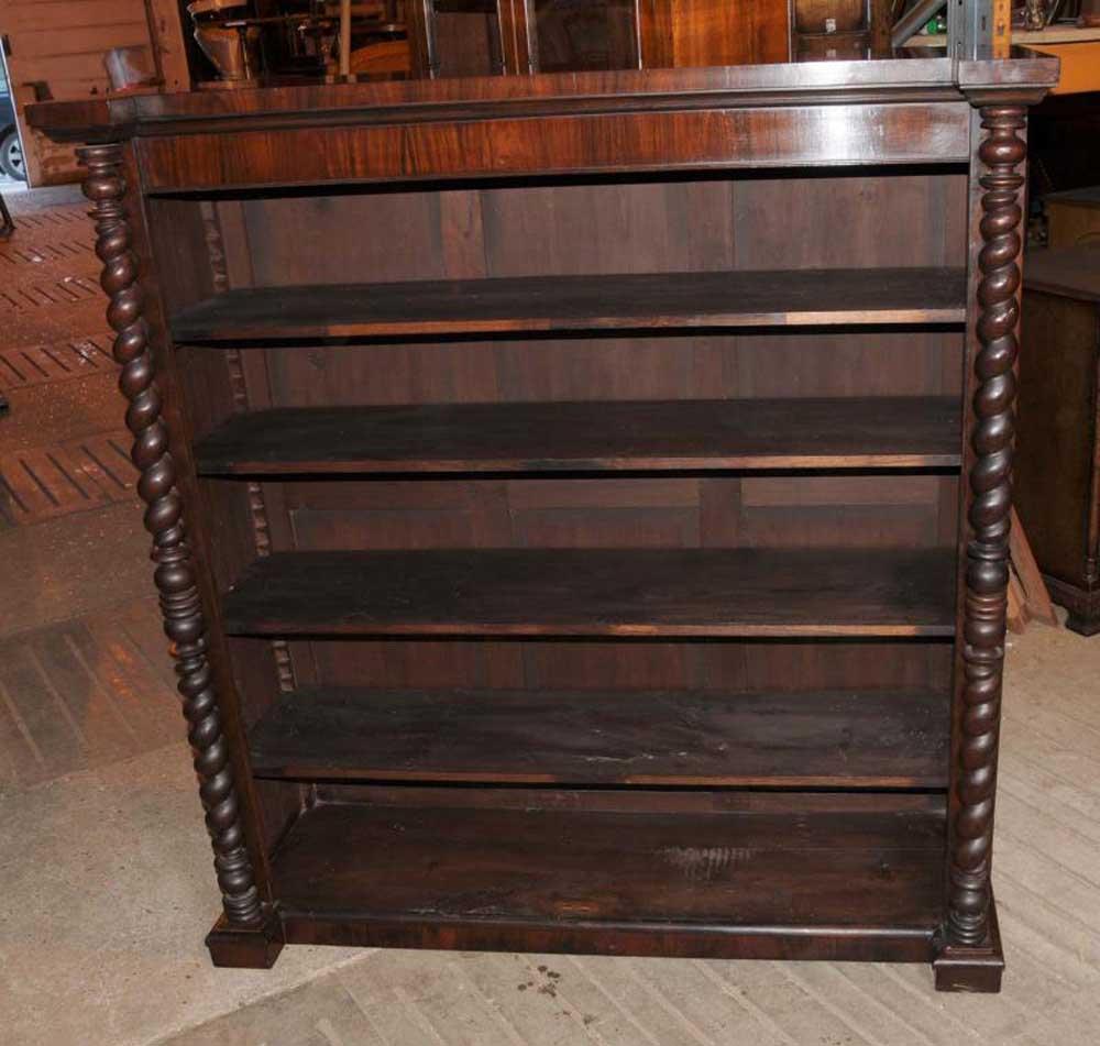 Victorian Mahogany Bookcase Barley Twist Rustic Furniture