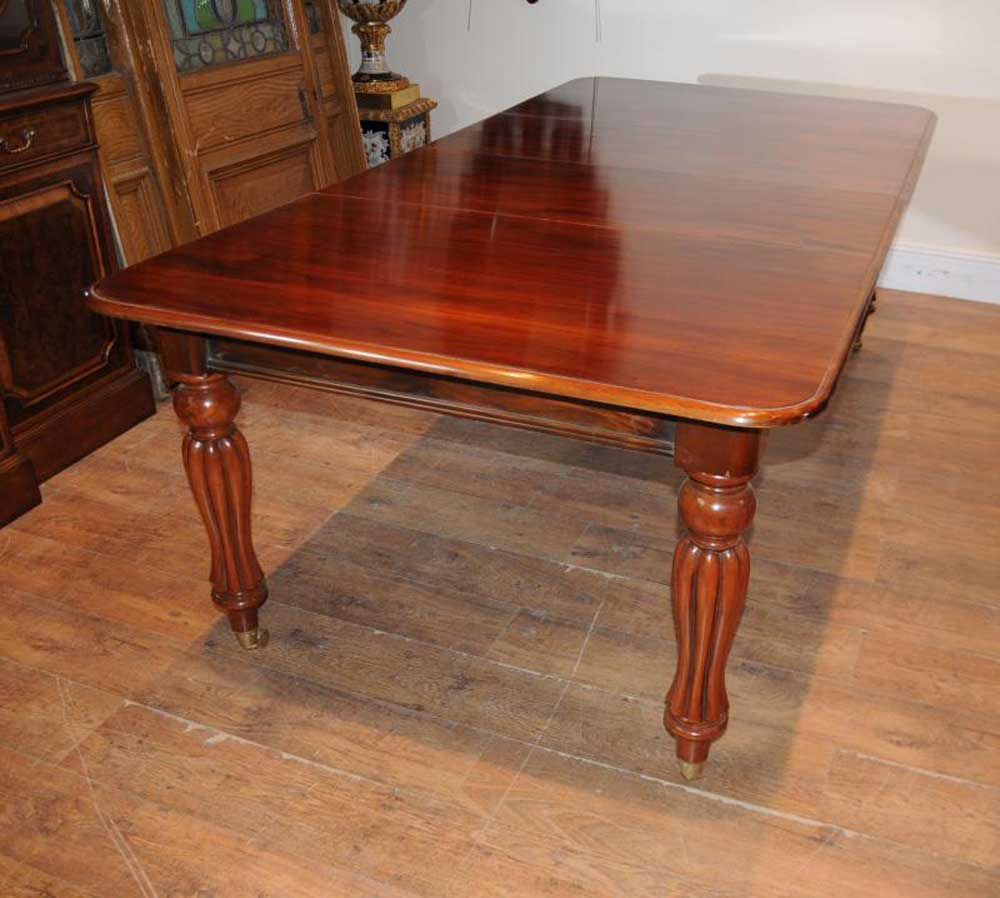 Victorian mahogany dining table set chairs balloon back for Edwardian table setting