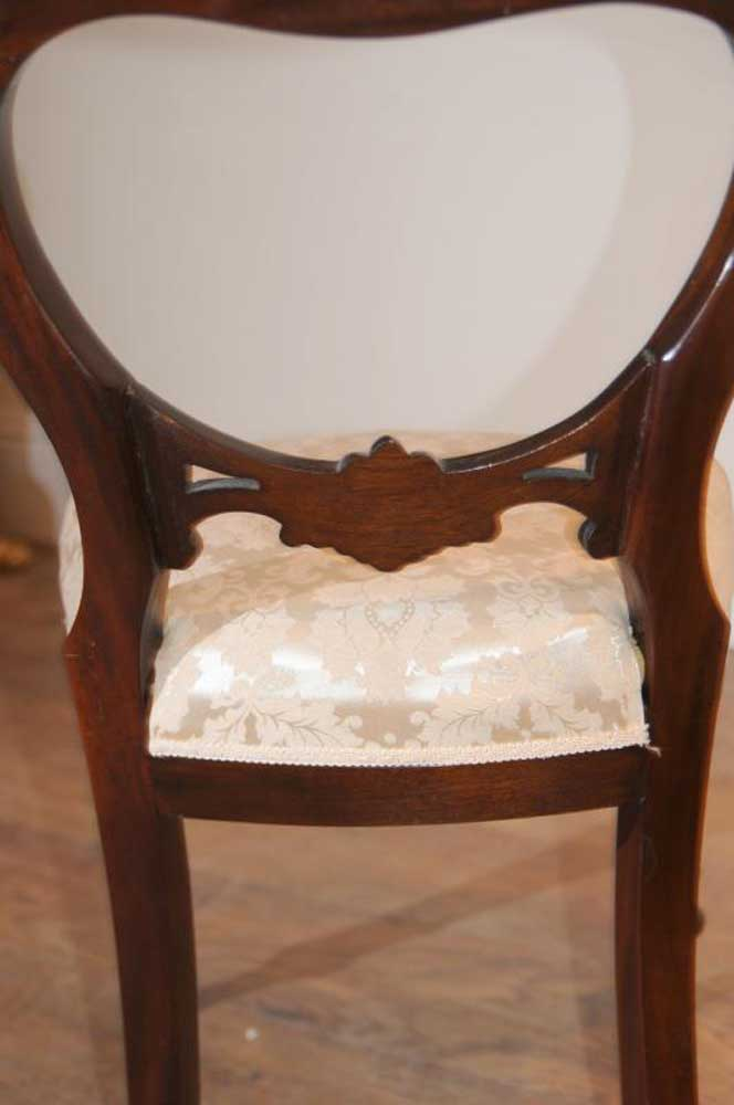 Victorian Mahogany Dining Table Set Chairs Balloon Back