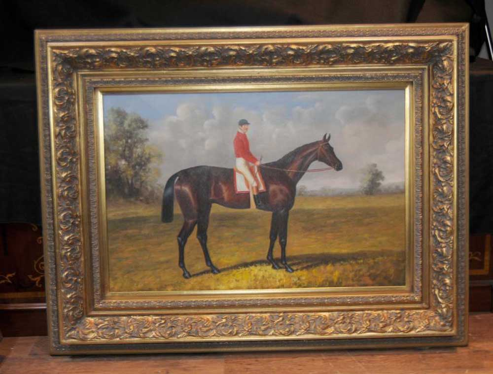 Victorian Oil Painting Horse Amp Jockey Huntsman English