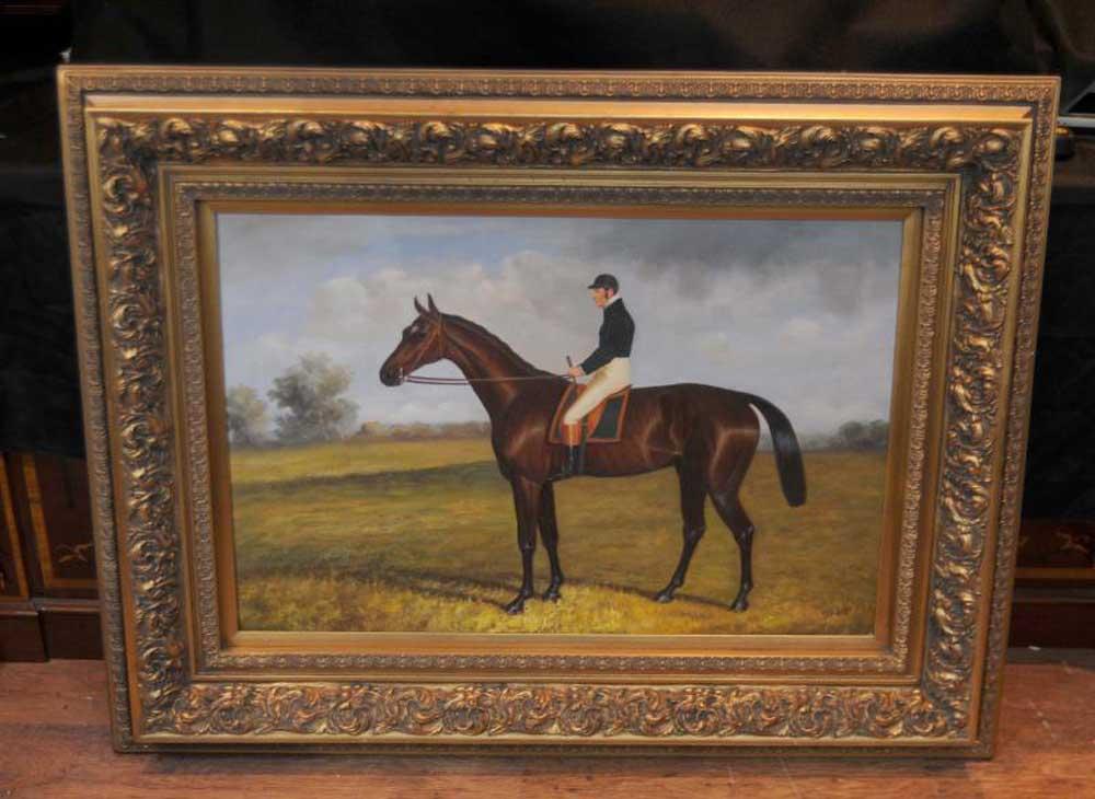 Victorian Oil Painting Horse Amp Jockey Landscape George