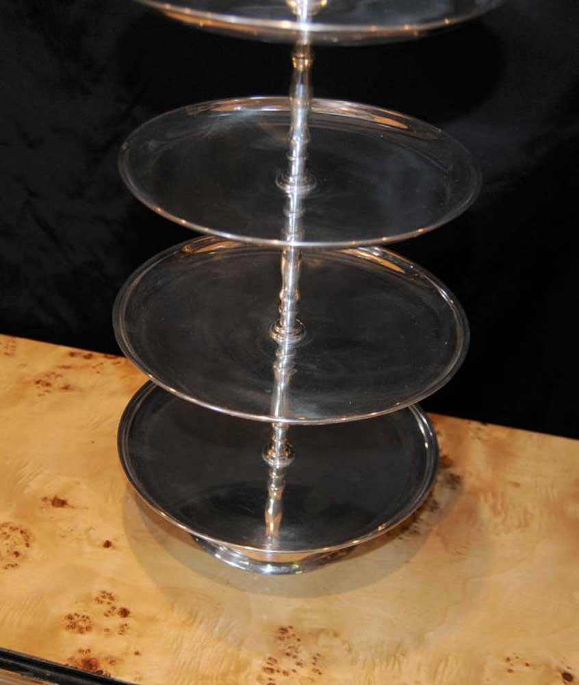 Victorian Silver Plate Cake Stand Silverplate English