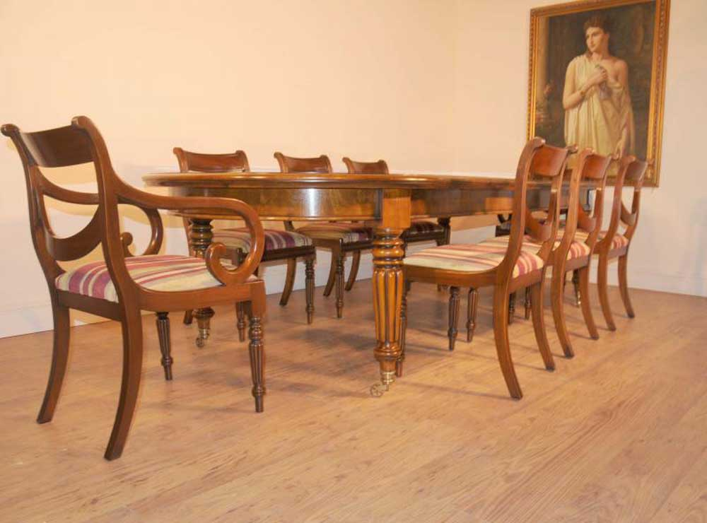 Victorian table and regency chairs dining set for Edwardian table setting