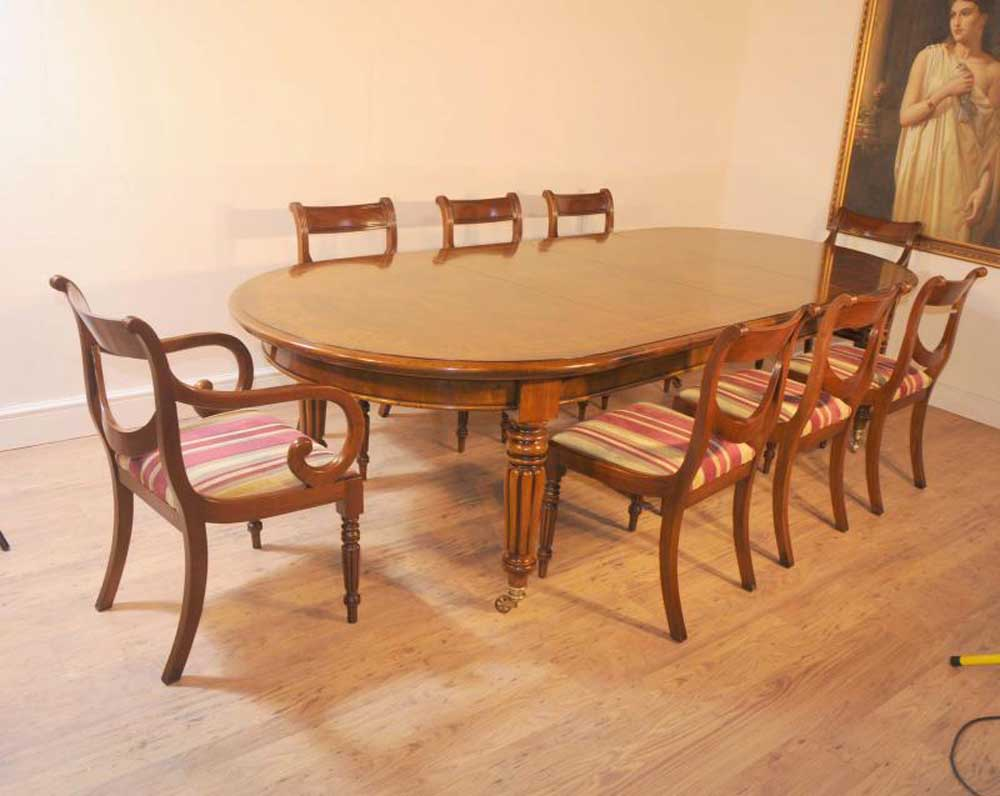 Victorian Table And Regency Chairs Dining Set