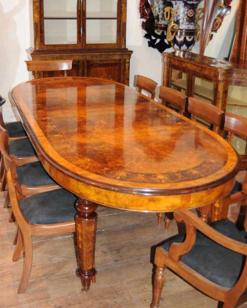 victorian walnut table chair dining set suite. Black Bedroom Furniture Sets. Home Design Ideas