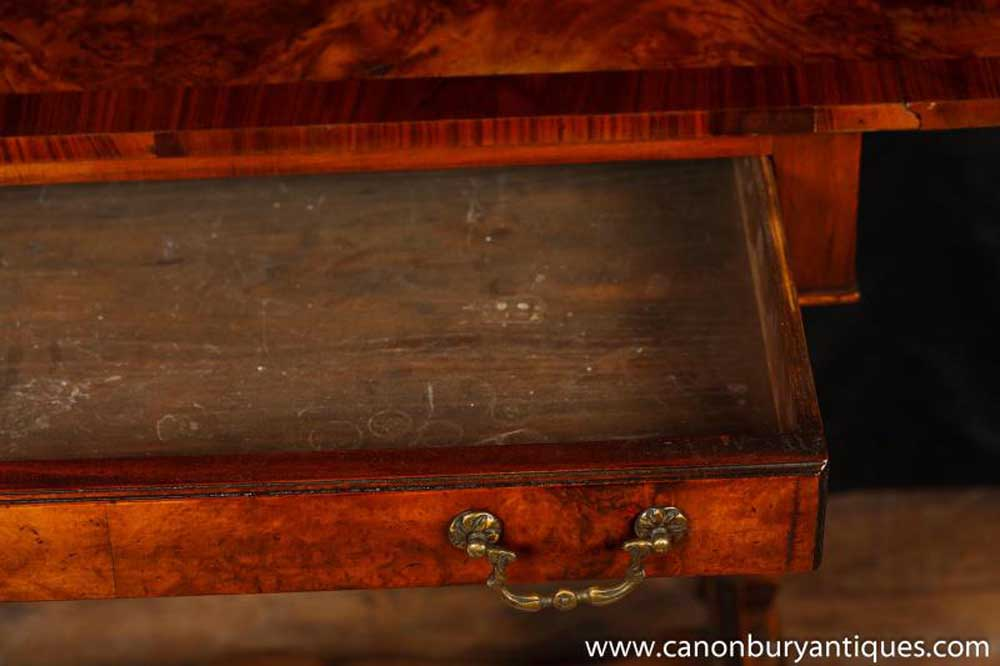 Walnut Antique Regency Side Table Sofa Table Extending