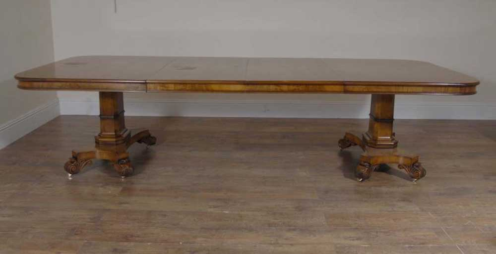 walnut regency dining table 10 george ii chairs set