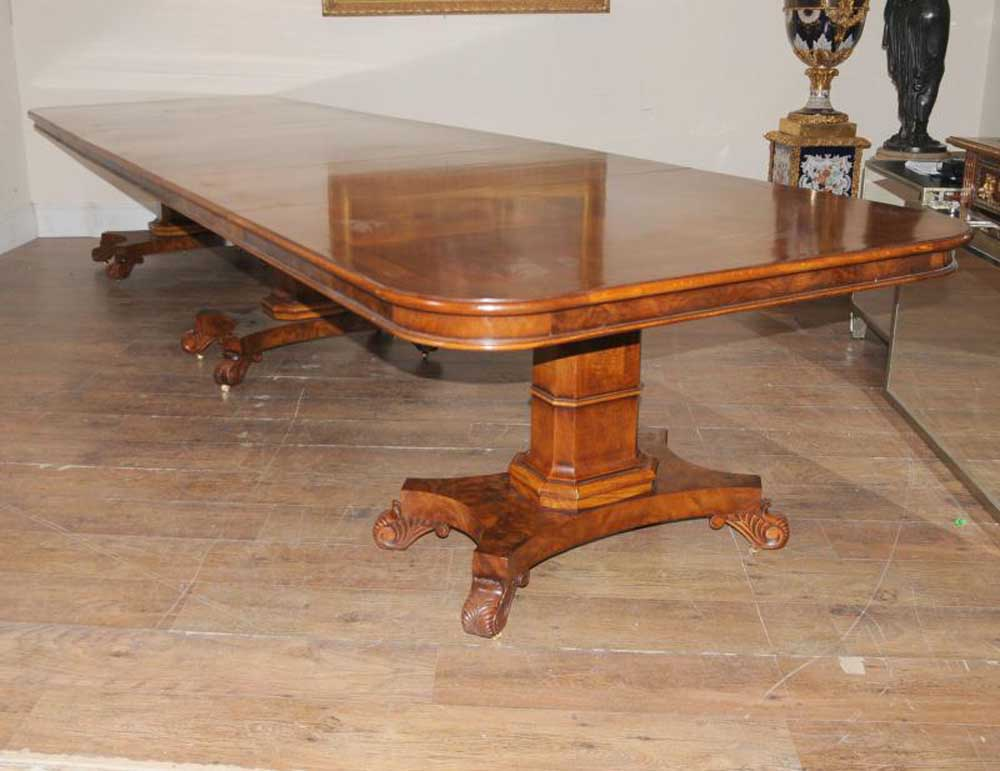 d2f3b0d14ac0f Walnut Regency Extending Dining Table 14 ft Diner