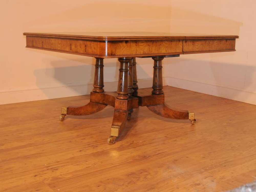 Walnut Regency Extending Dining Table Split Base