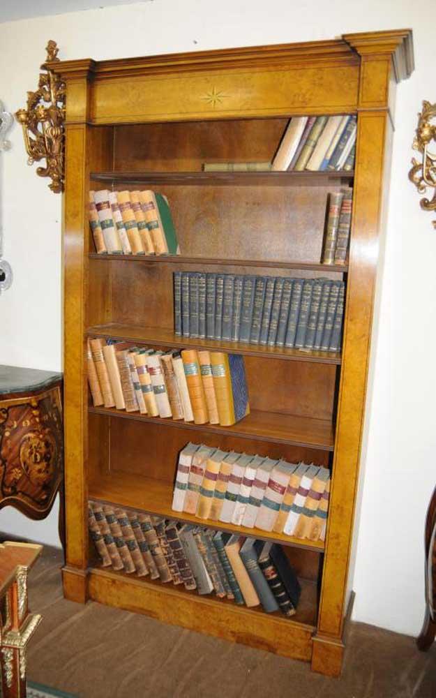 Walnut Regency Open Bookcase Book Case Shelf