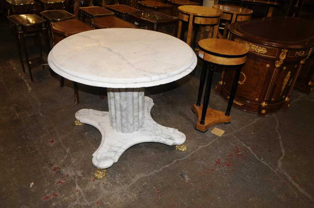 White Italian Marble Centre Table Round Dining Tables : white italian marble centre table round dining tables 1335676041 product 1 from www.canonburyantiques.com size 1000 x 664 jpeg 69kB