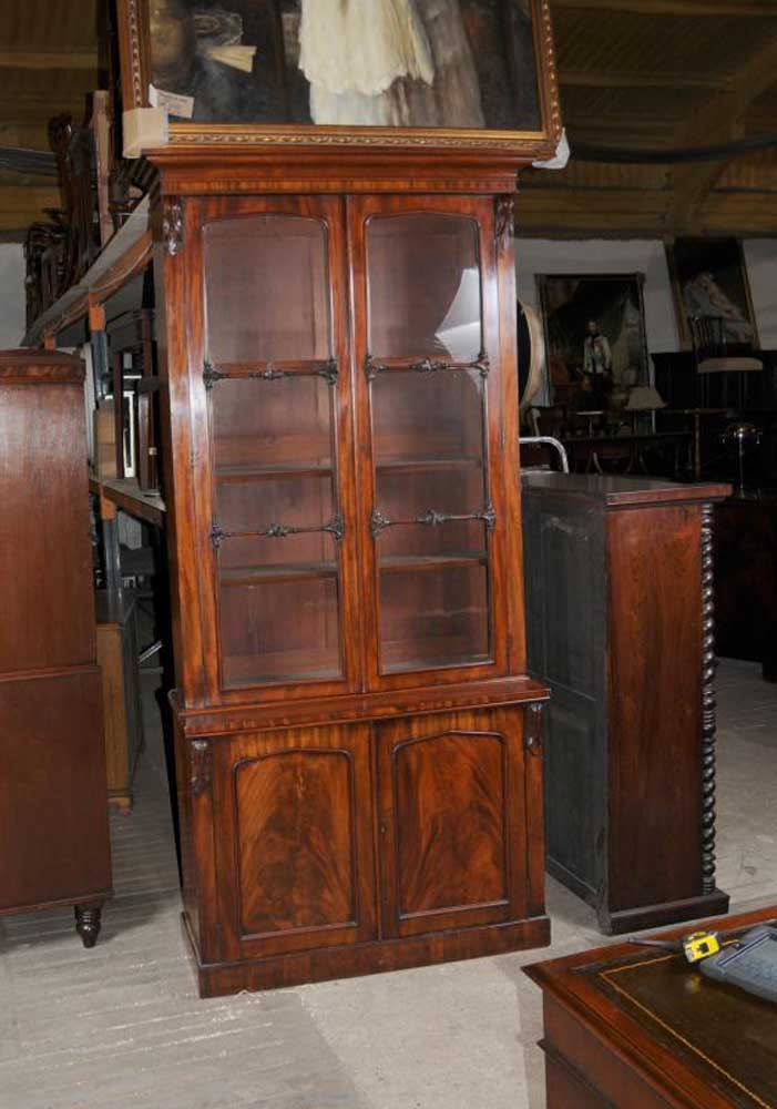 William Iv Mahogany Glazed Bookcase Cabinet Bookcases