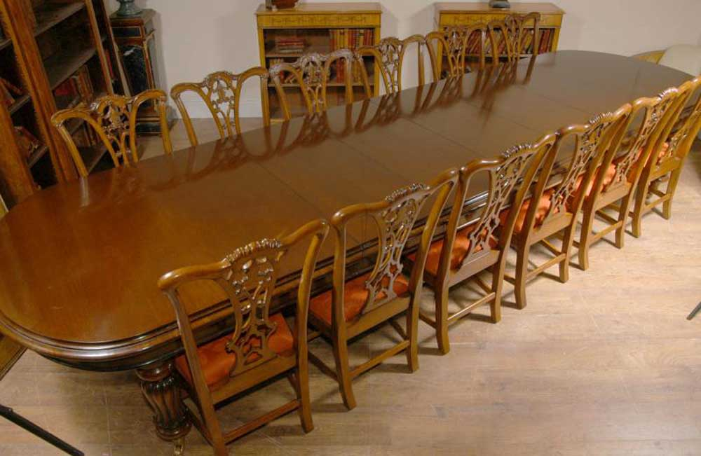 Xl 14 seat english victorian dining table tables for 14 seater dining table