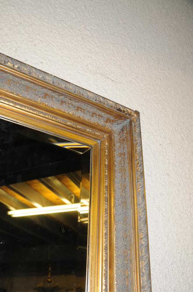 Xl french gilt pier mantle mirror glass mirrors for Mantle mirror