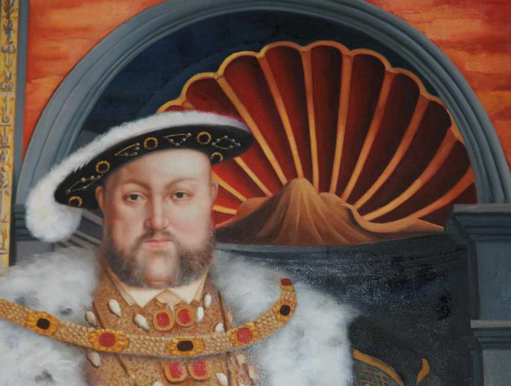 Xl Oil Painting King Henry Viii 8th Eight English Monarch