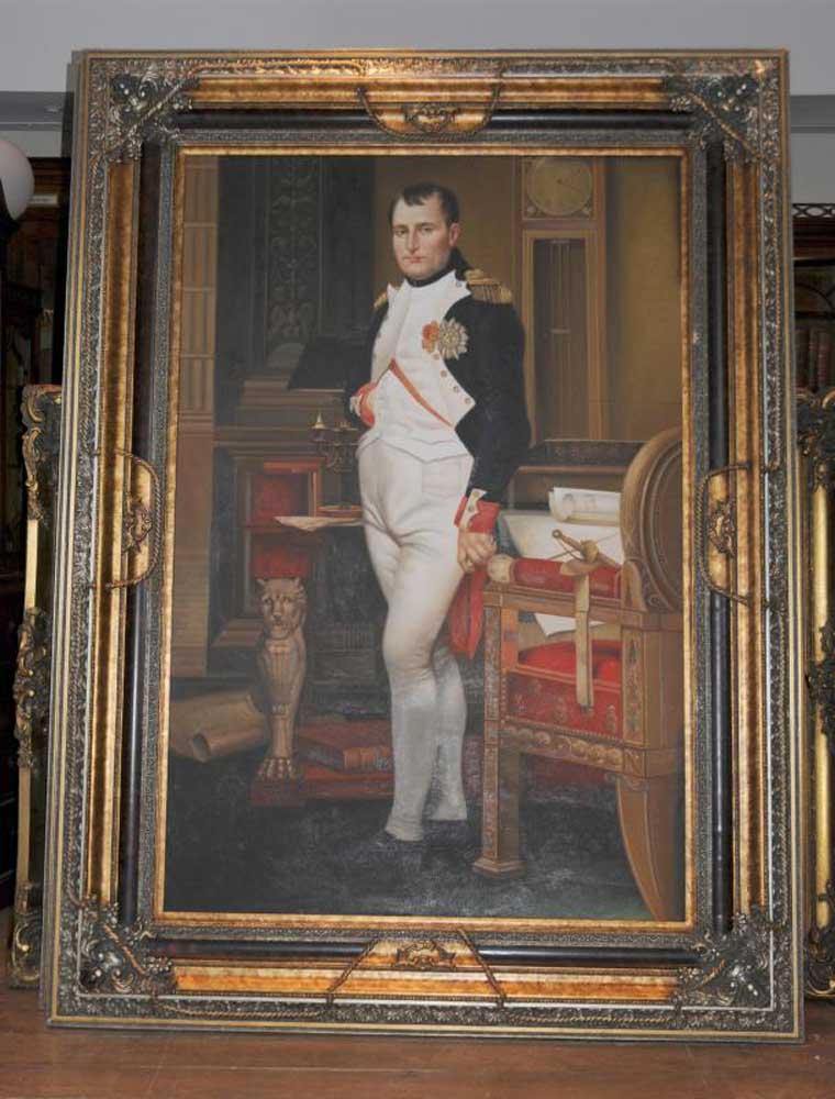 Xl Oil Painting Napoleon Bonaparte French Emperor Military