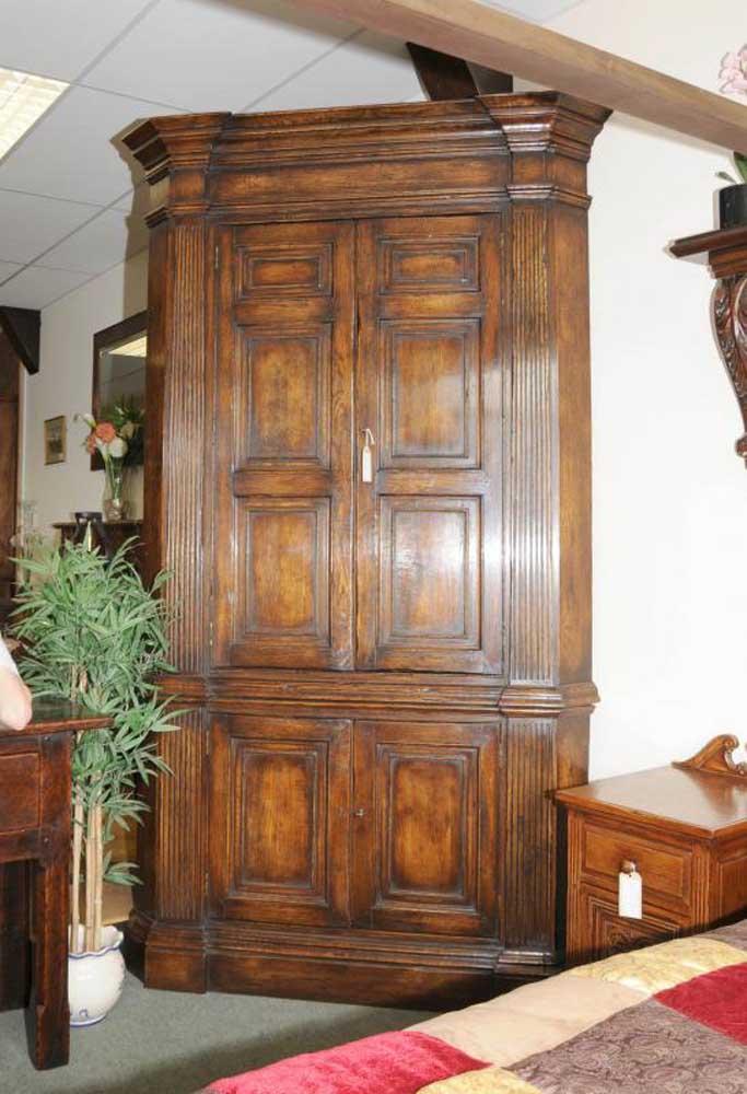 Xl Tudor Jacobean Corner Cabinet Oak Farmhouse