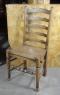English Rustic Oak Ladderback Chairs