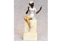 Art Deco Bronze Female Figurine