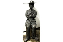 Lifesize Bronze Charlie Chaplin Seated Statue Casting