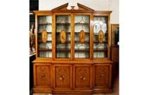 Sheraton Painted Satinwood Breakfront Bookcase