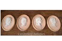 Set Stone Plaques Roman Emperors