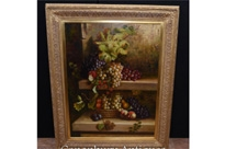 Victorian Oil Painting Floral Still Life