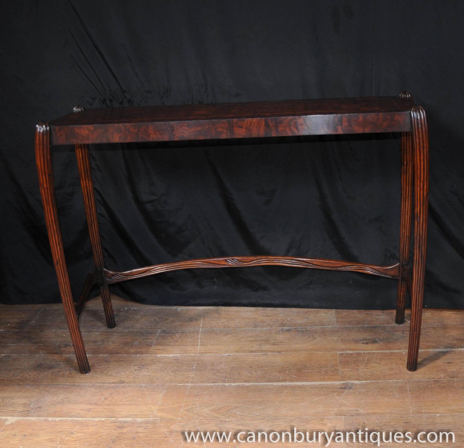 walnut english art nouveau console table hall tables 1930s furniture. Black Bedroom Furniture Sets. Home Design Ideas