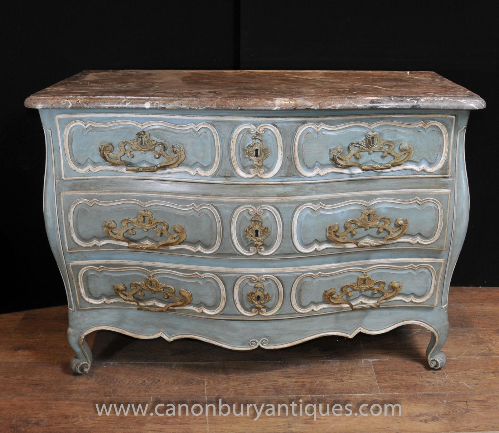 French Provincial Bombe Commode Chest Drawers Antique Furniture EBay