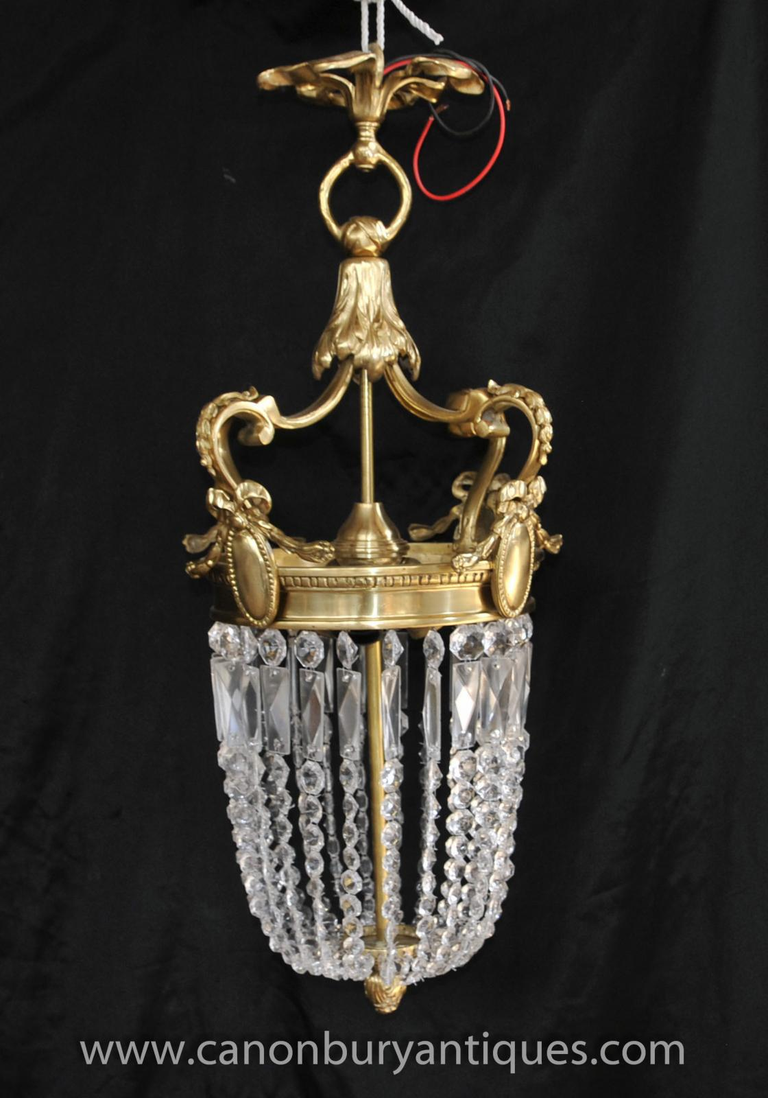 French Empire Ormolu Chandelier Light Lantern Lamp EBay