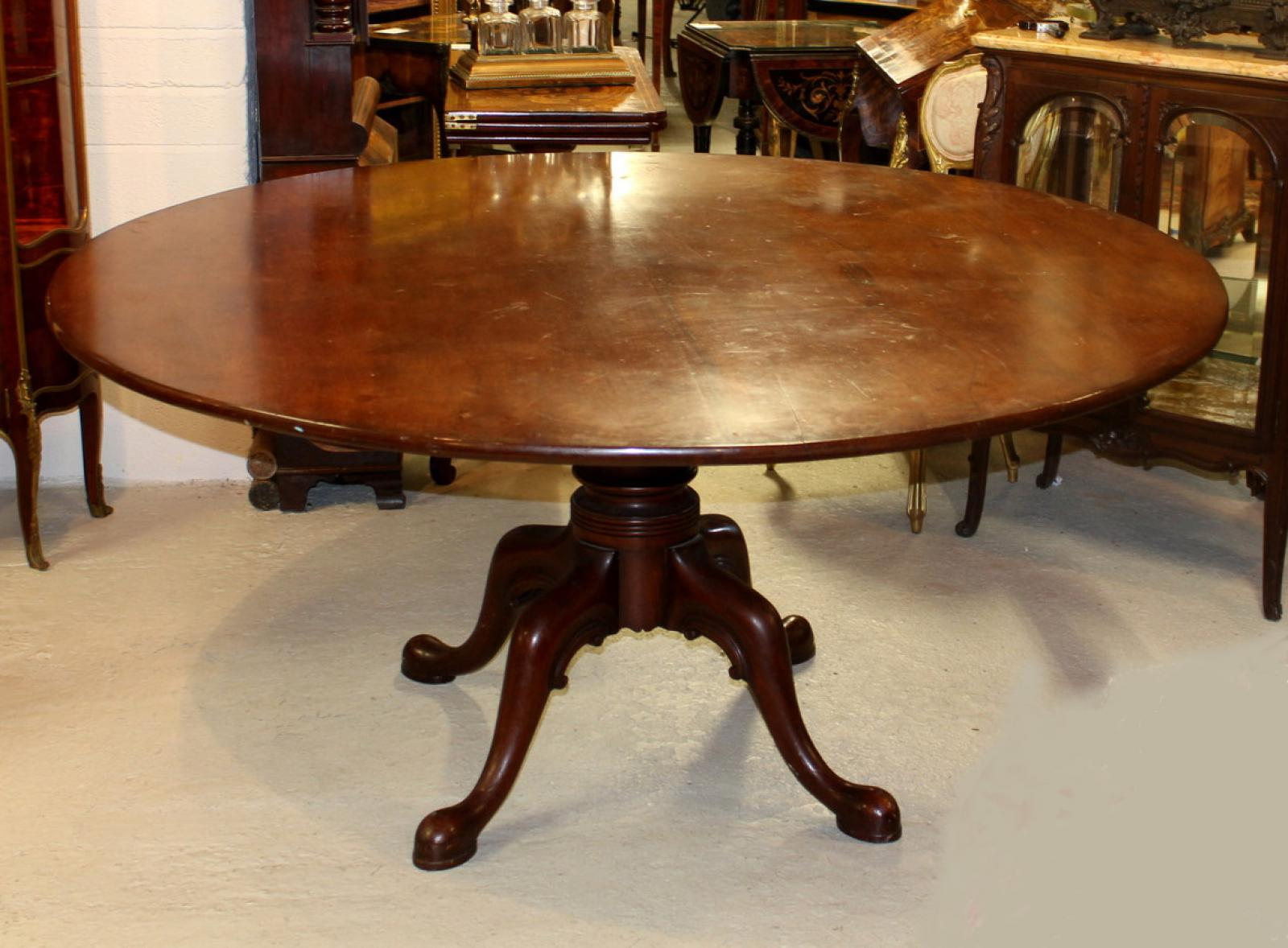 Antique Georgian Round Mahogany Dining Table Tilt Top eBay :  1481222160 zoom 79 from www.ebay.co.uk size 1600 x 1178 jpeg 170kB