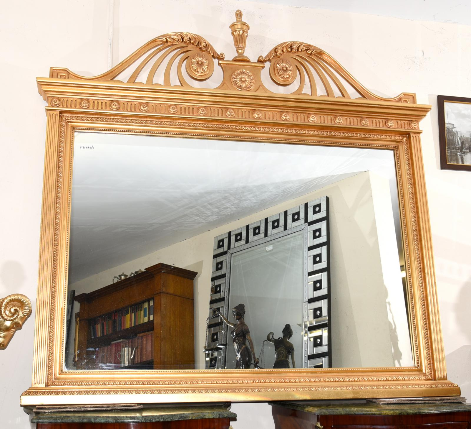 Inglese adams dorati mantello specchio vetro specchi ebay for A specchio in inglese