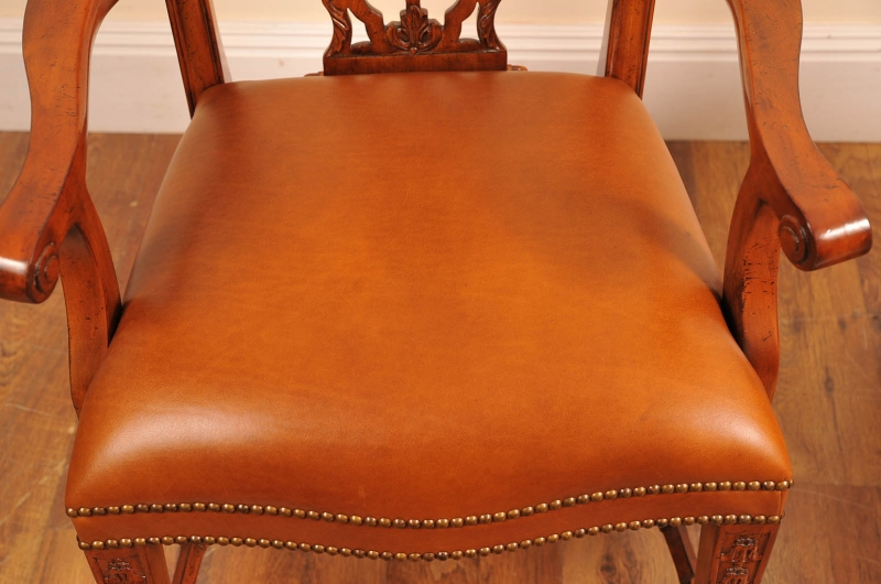 Photo of 10 English Chippendale Mahogany Dining Chairs Diners