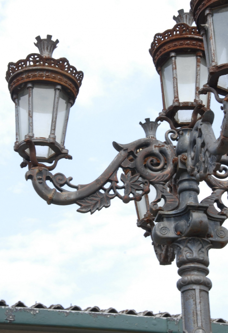 10 Ft Light Post : Foot english victorian cast iron lamp post