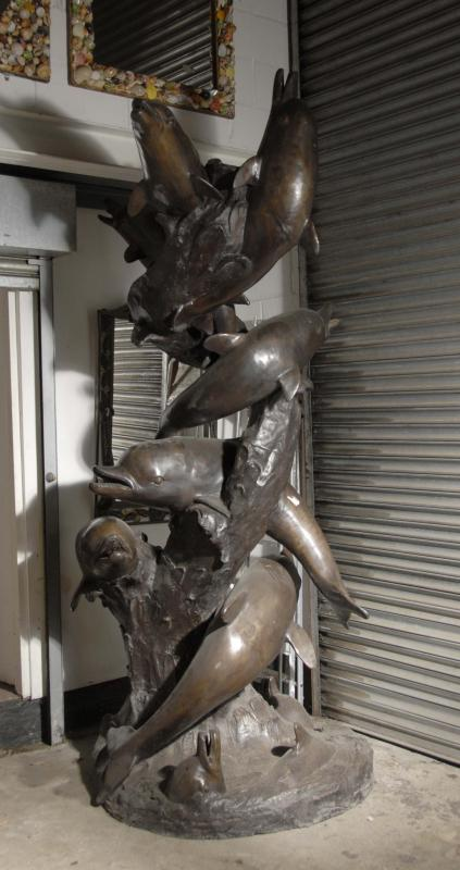 Photo of 10 ft Bronze Dolphin Fountain Fountains Architectural