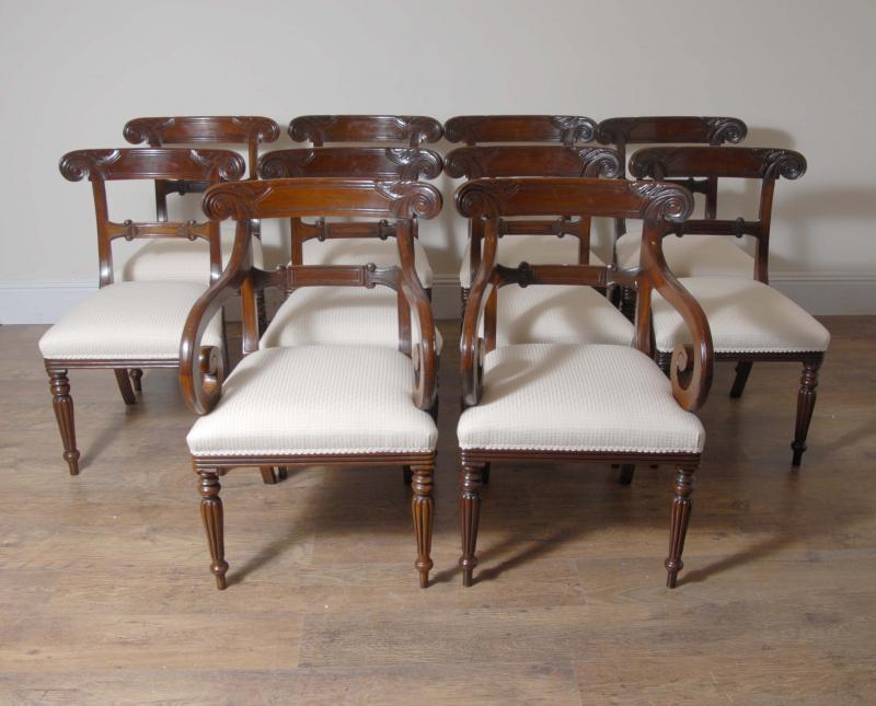 photo of 10 ft english regency dining table set 10 chairs chair