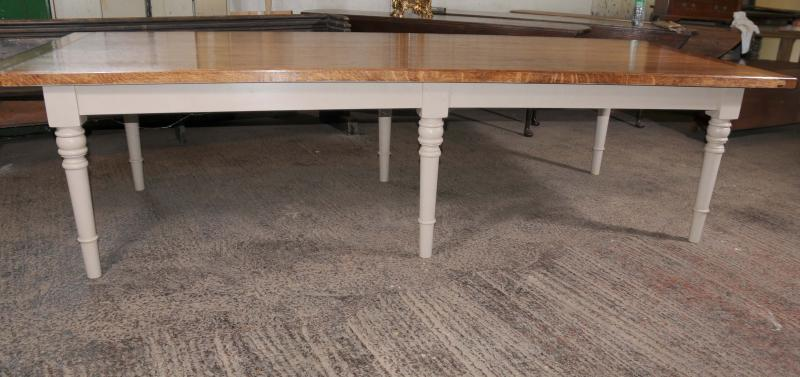 Photo of 10 ft Oak Refectory Table Painted Base Dining