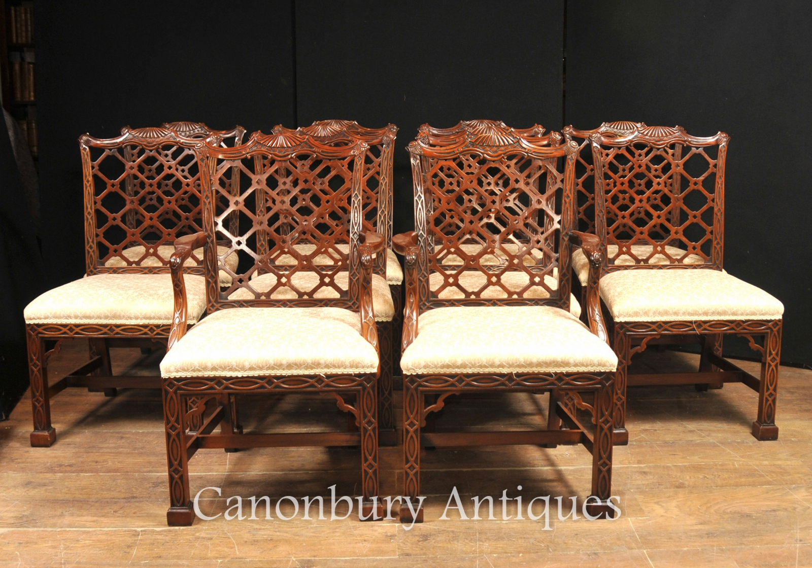 Store Categories & Chippendale Dining Chairs - Mahogany English Gothic Diners Set of 10 ...