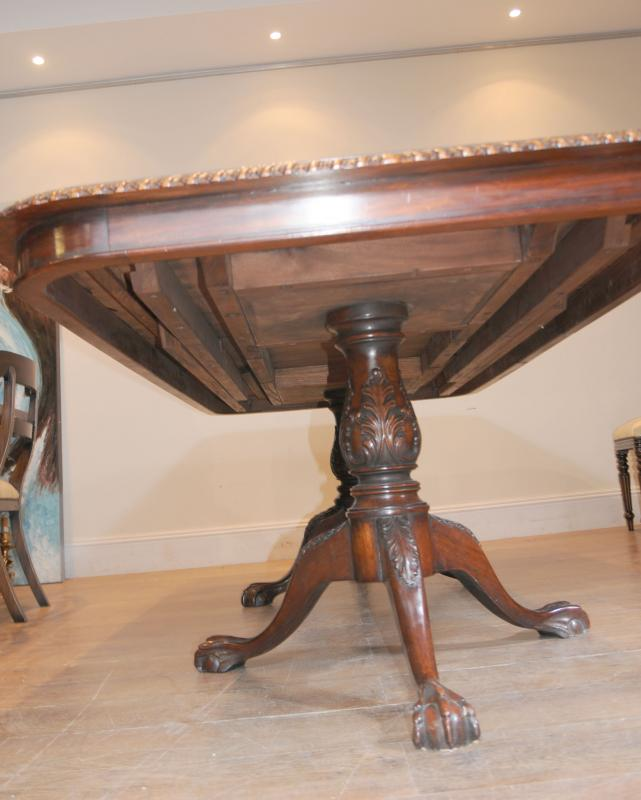Photo of 10 William IV Chairs Chippendale Dining Table Set Suite