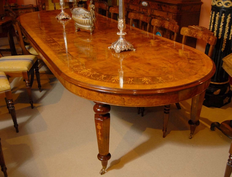 12 foot italian marquetry extending dining table ebay