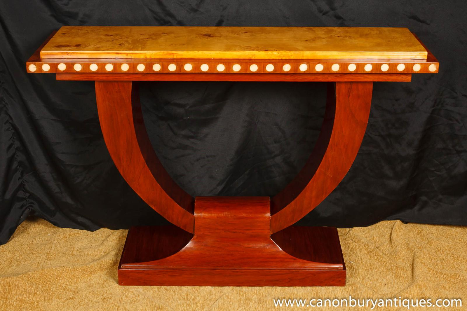 1920s art deco u console table hall tables interiors for Hall interior furniture