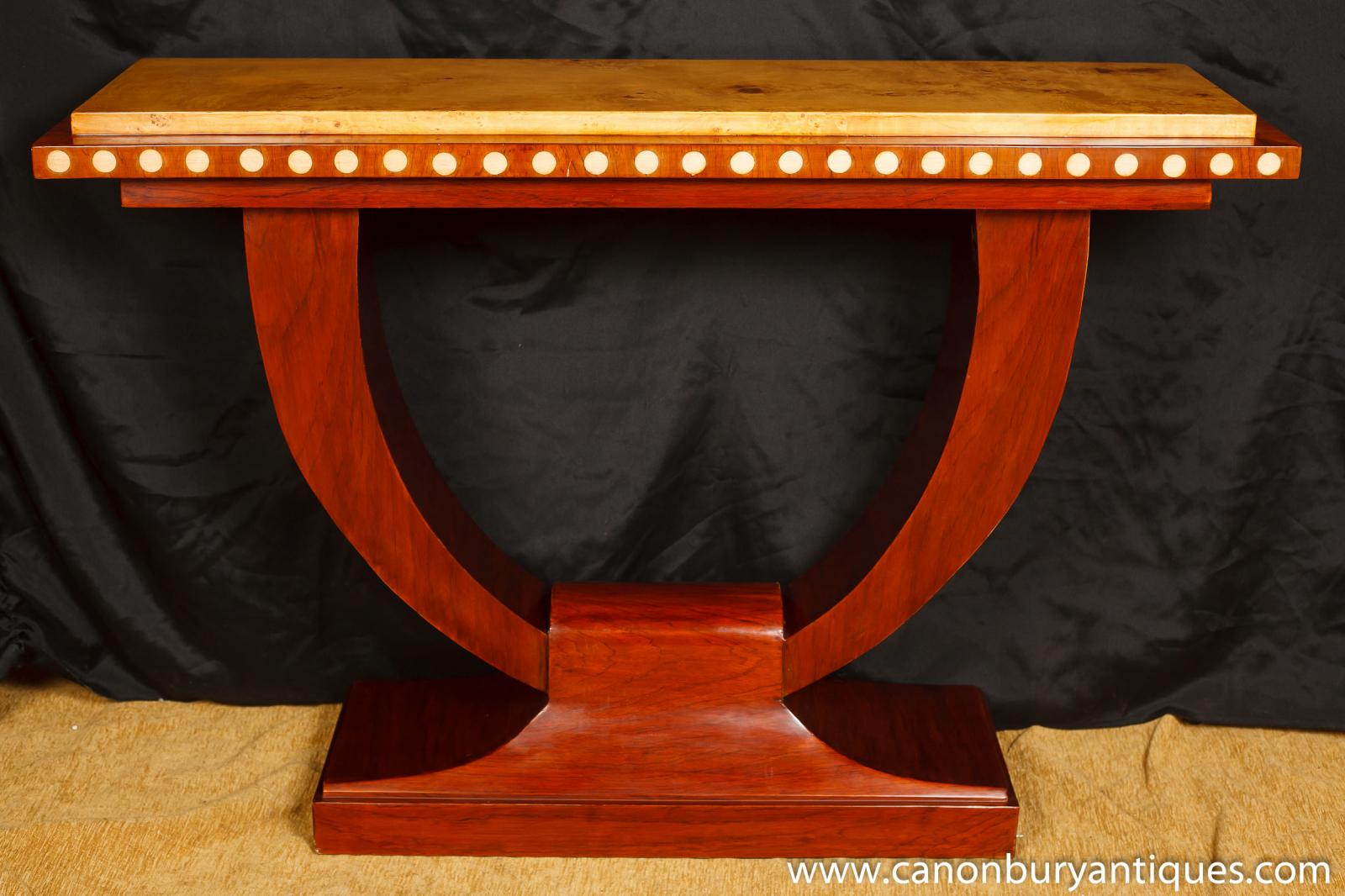 1920s art deco u console table hall tables interiors furniture ebay. Black Bedroom Furniture Sets. Home Design Ideas