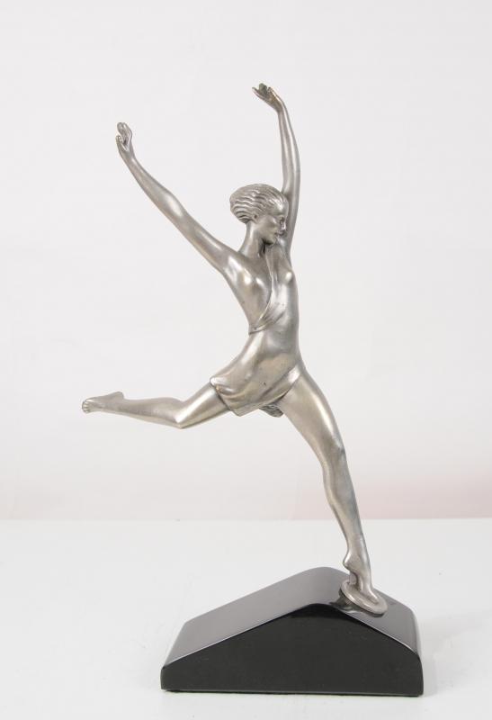 Photo of 1920s Bronze Art Deco Dancer Figurine Statue French Statue